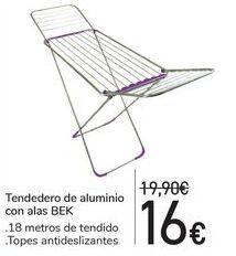 Oferta de Tendedero de aluminio con alas BEK  por 16€