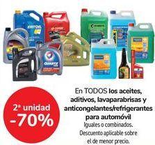 Oferta de En TODOS los aceites, aditivos, lavaparabrisas y anticongelantes/refrigerantes para automóvil, iguales o combiandos  por