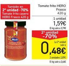 Oferta de Tomate frito HERO Frasco por 1,59€