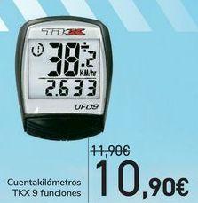 Oferta de Cuentakilómetros TKX 9 funciones  por 10,9€