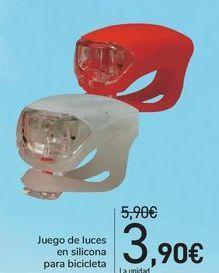 Oferta de Juego de luces en silicona para bicicleta  por 3,9€