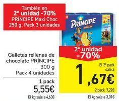Oferta de Galletas rellenas de chocolate Príncipe por 5,55€