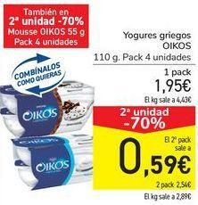 Oferta de Yogur griego OIKOS por 1,95€
