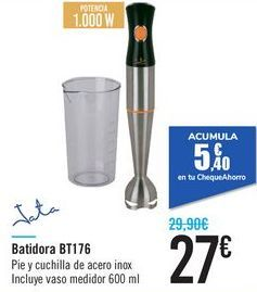 Oferta de Batidora BT176 JATA  por 27€