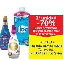 Oferta de En TODOS los suavizantes FLOR y FLOR Elixir o Revive  por