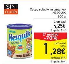 Oferta de Cacao soluble instantáneo NESQUIK por 4,25€