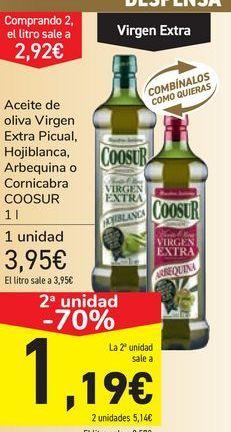 Oferta de Aceite de oliva Virgen Extra Picual, Hojiblanca, Arbequina o Cornicabra COOSUR por 3,95€