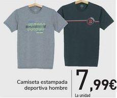 Oferta de Camiseta estampada deportiva hombre  por 7,99€