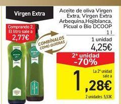Oferta de Aceite de oliva Virgen Extra, Virgen Extra Arbequina, Hojiblanca, Picual o Bio DCOOP por 4,25€