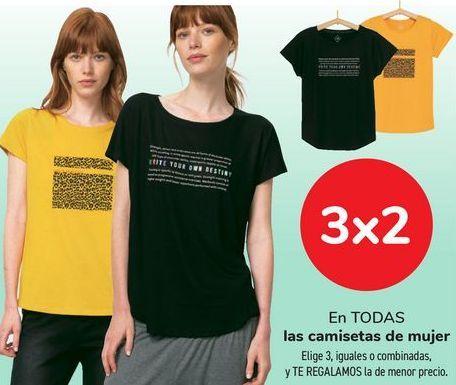 Oferta de En TODAS las camisetas de mujer  por
