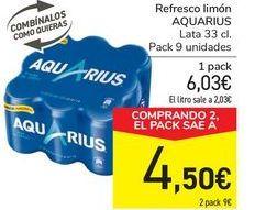 Oferta de Refresco de limón AQAURIUS por 6,03€