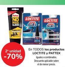 Oferta de En TODOS los productos LOCTITE y PATTEX por