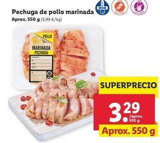 Oferta de Pechuga de pollo por 3,29€