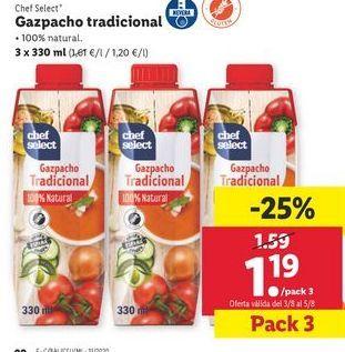 Oferta de Gazpacho chef select por 1,19€