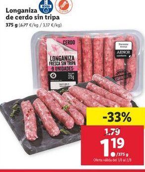 Oferta de Longaniza por 1,19€