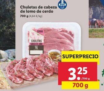 Oferta de Chuletas de cerdo por 3,25€