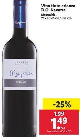 Oferta de Vino tinto por 1,49€