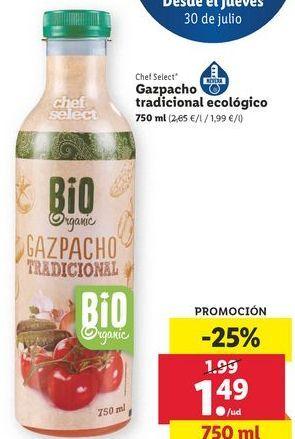 Oferta de Gazpacho chef select por 1,49€