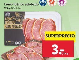 Oferta de Lomo ibérico por 3€