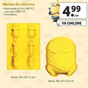 Oferta de Molde de silicona Minions por 4,99€