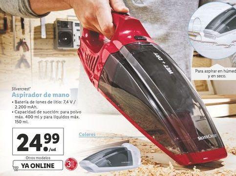 Oferta de Aspirador de mano SilverCrest por 24,99€