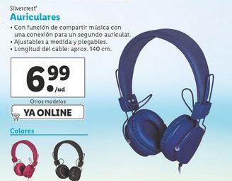 Oferta de Auriculares SilverCrest por 6,99€