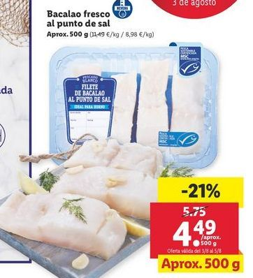 Oferta de Bacalao por 4,49€