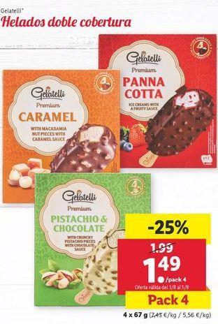 Oferta de Bombón helado Gelatelli por 1,49€