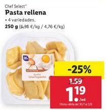 Oferta de Pasta chef select por 1,19€
