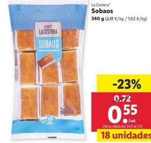 Oferta de Sobaos La Cestera por 0,55€