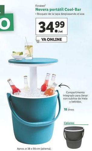 Oferta de Nevera portátil Florabest por 34,99€