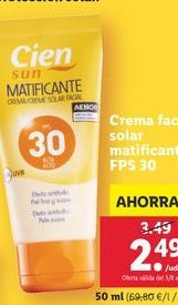 Oferta de Crema facial Cien por 2,49€