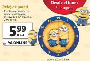 Oferta de Reloj de pared Minions por 5,99€