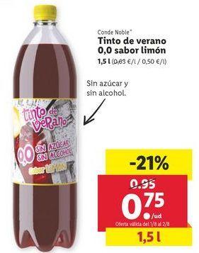 Oferta de Tinto de verano por 0,75€