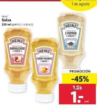 Oferta de Salsas Heinz por 1€