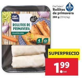 Oferta de Rollitos de primavera chef select por 1,99€