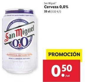 Oferta de Cerveza sin alcohol San Miguel por 0,5€