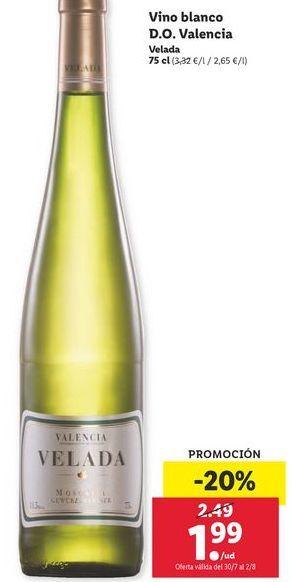 Oferta de Vino blanco Velada por 1,99€