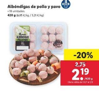 Oferta de Albóndigas por 2,19€