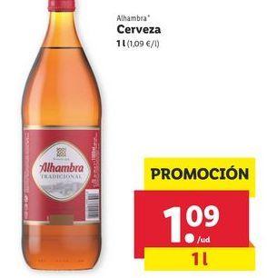 Oferta de Cerveza Alhambra por 1,09€