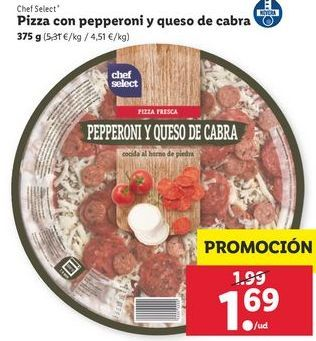 Oferta de Pizza chef select por 1,69€