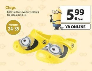 Oferta de Zuecos Minions por 5,99€