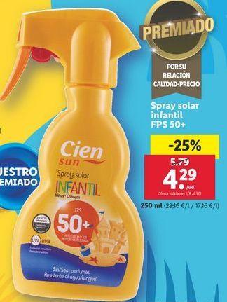 Oferta de Spray solar Cien por 4,29€