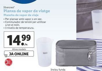Oferta de Plancha de vapor SilverCrest por 14,99€