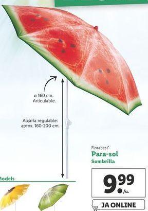 Oferta de Sombrilla Florabest por 9,99€