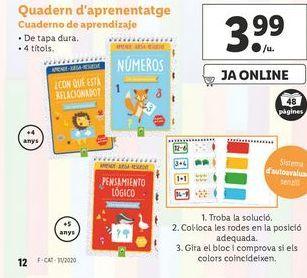 Oferta de Cuadernos por 3,99€