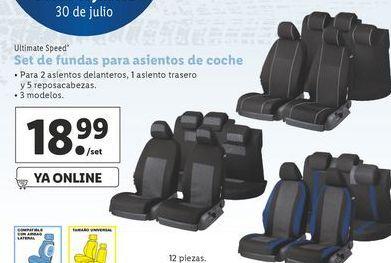Oferta de Funda de silla de coche ultimate speed por 18,99€