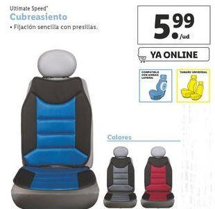 Oferta de Cubre asiento coche ultimate speed por 5,99€