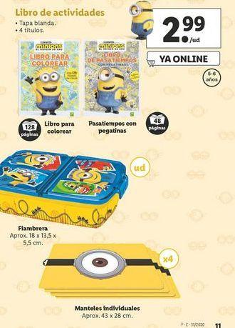 Oferta de Libros de actividades Minions por 2,99€