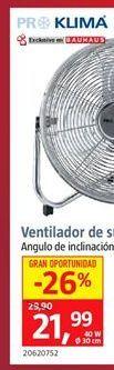 Oferta de Ventilador de suelo por 21,99€